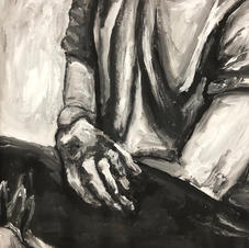 Acrylic on Bristol--Grey Scale Figue Study Timed Piece--Art III--17 years old.jpg
