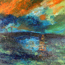 Acrylic on Canvas--Abstract Sunset--Painting II-16 years old.jpg