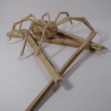 Toothpicks and Found Wood--Insect Prompt--Sculpture II--17 years old.jpg
