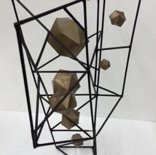 Skewers, Bistol Board and Spray Paint--Geo Suspension Prompt--Sculpture I--13 years old.jp