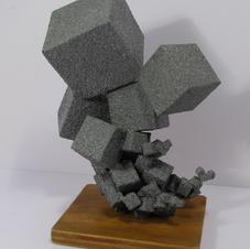 Bristol Board, Wood and Fleckstone--Geo Repeat Prompt--Sculpture I-14 years old.jpg