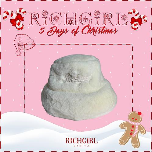 RICHGIRL FUR BUCKET HAT OFFWHITE