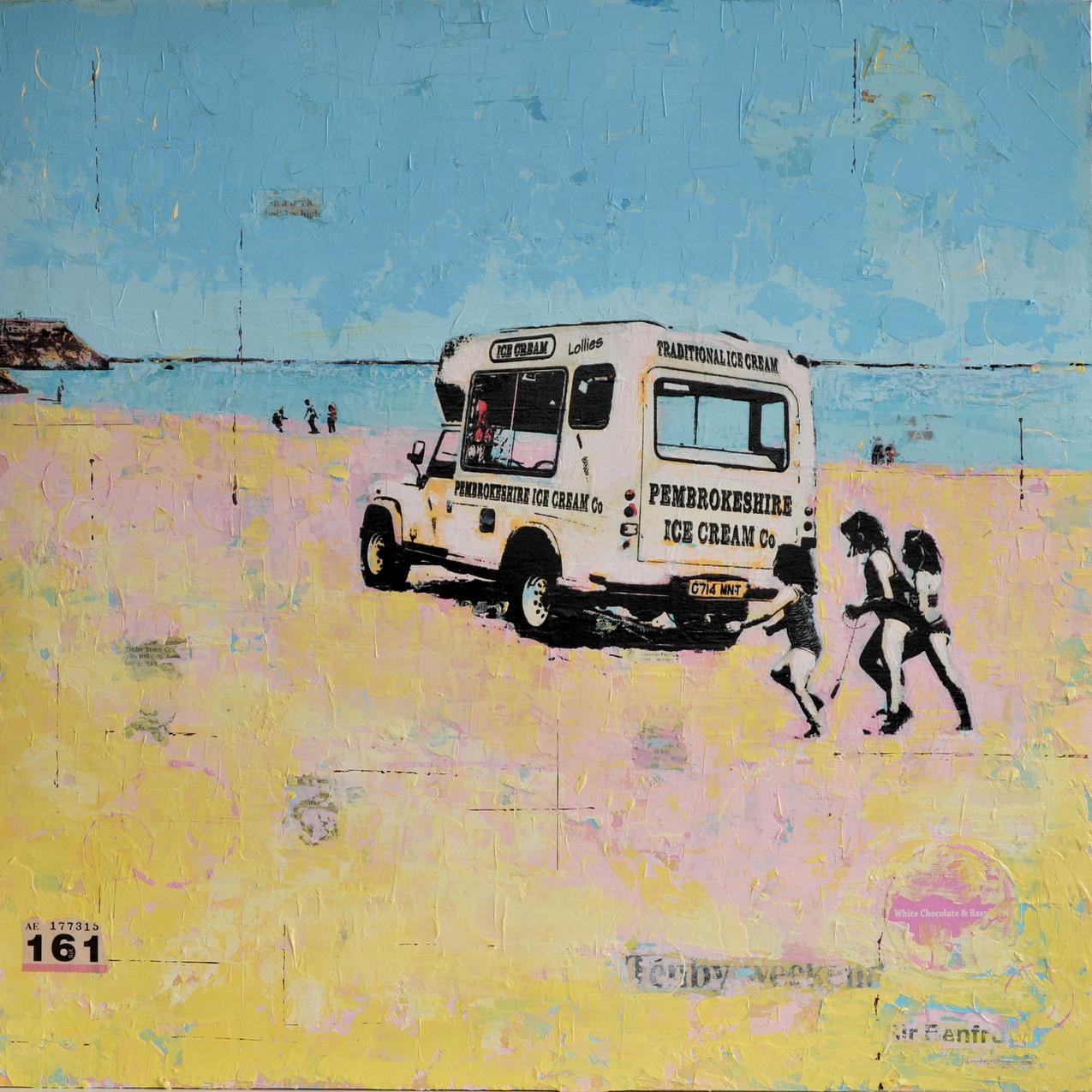 Tenby Ice Cream Van 66.5cm x 66.5cm