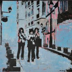 Three Tourists Montmartre