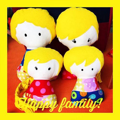 Familia feito em feltro