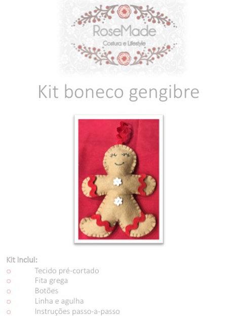 Kit boneco de gengibre