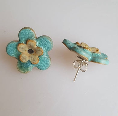 FLEUR Earrings (turquoise)