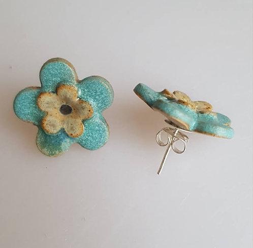 FLEUR Earrings (turquoise)