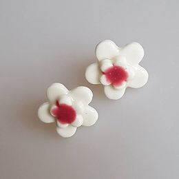 FLEUR Earrings (white/pink)