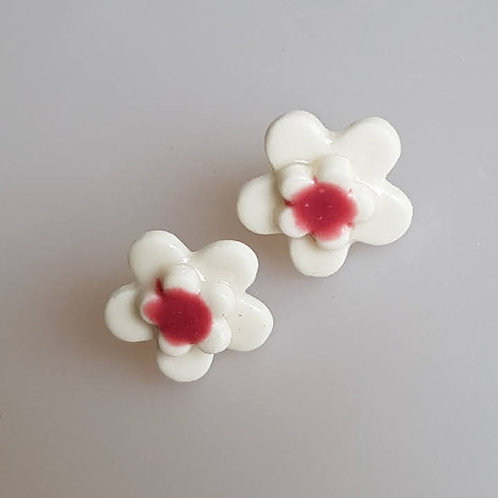 FLEUR Earrings (white/pink)