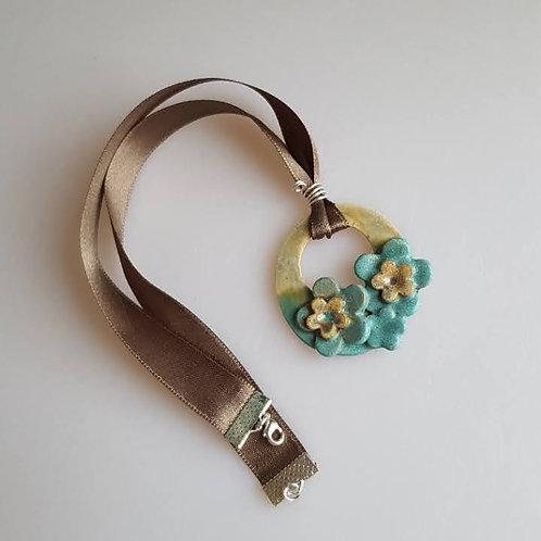 FLEUR Wide Ribbon Necklace