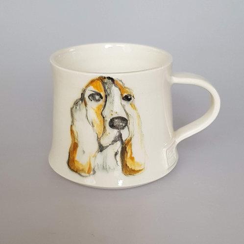 'Flossie' Basset Hound Stoneware Mug