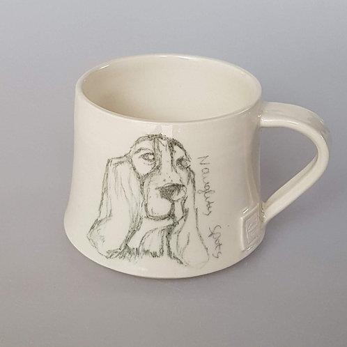 'Hector' Basset Hound Stoneware Mug