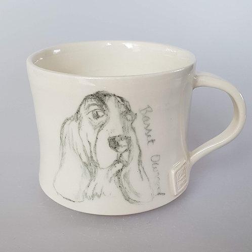 'Trixie' Basset Hound Stoneware Mug