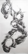 "Virgil No. 43, 2016, Graphite on paper, 108"" x 55"""