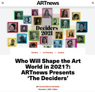 ARTNEWS' '2021 DECIDERS'