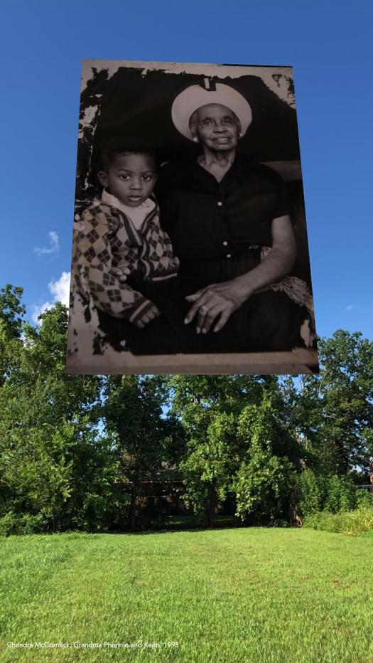 Chandra McCormick, Grandma Phennie and Keith,1993