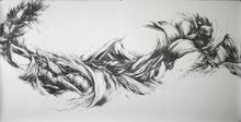 "Virgil No. 22, 2014, Graphite on paper, 55"" x 108"" Made for Redbird Studios"