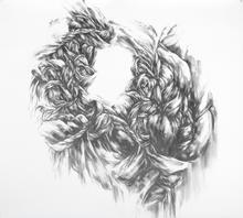 "Virgil No. 40, 2015, Graphite on paper, 52"" x 55"""