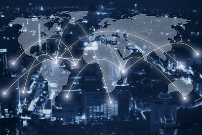 global network concept, communication.jp