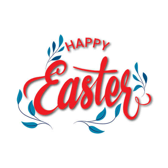 Happy Easter Adorable Clipart - Easter PNG Transparent Image - Instant Download