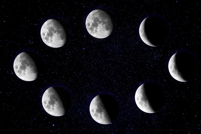 Moon Phases Printable Wall Art, Moon Print, Moon Phase Decor Digital Download