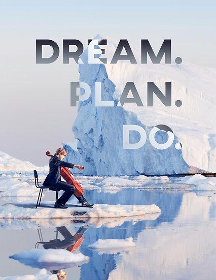 "Motivational Poster ""Dream. Plan. Do"", Inspiring Quote Digital Download"