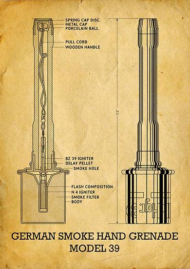 WW2 German Smoke Grenade Patent Print Digital Download