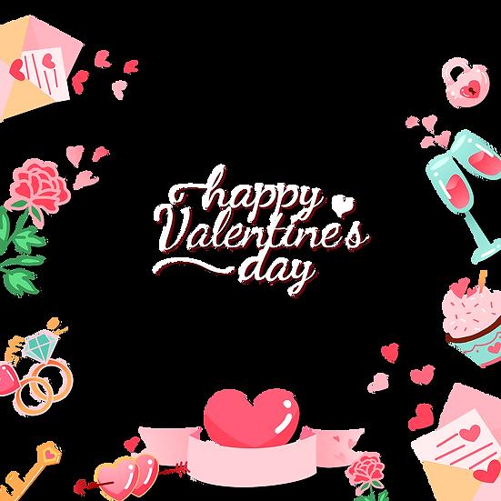 Fantastic Valentine's Day Greeting Card - Transparent Image - Instant Download