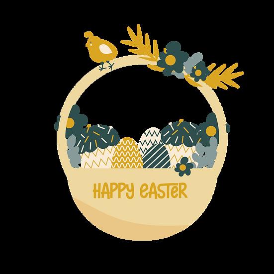 Enchanted Easter Basket - Easter PNG Transparent Image - Instant Download