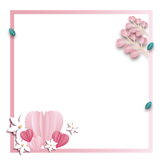 Beautiful Valentine's Day Frame - PNG Transparent Image - Instant Download