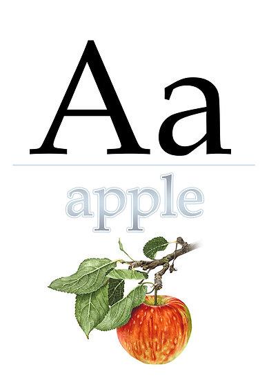 "Letter ""A"", Printable Flash Cards, English Alphabet for Kids Digital Download"