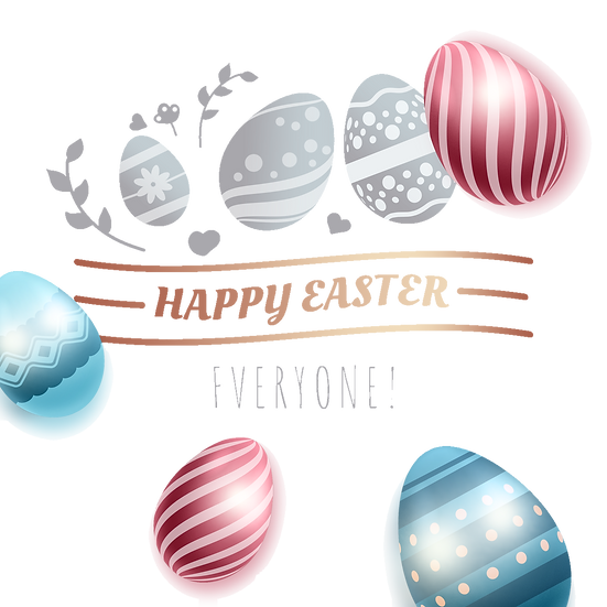 Happy Easter Everyone Greeting Card - PNG Transparent Image - Instant Download