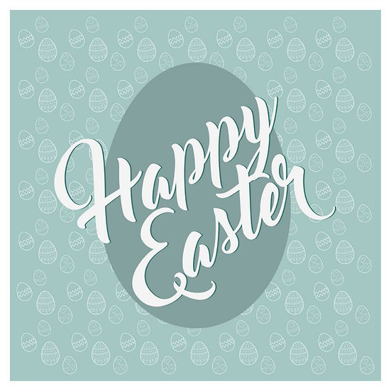 Happy Easter Magical Greeting Card - Easter JPEG Image - Instant Download