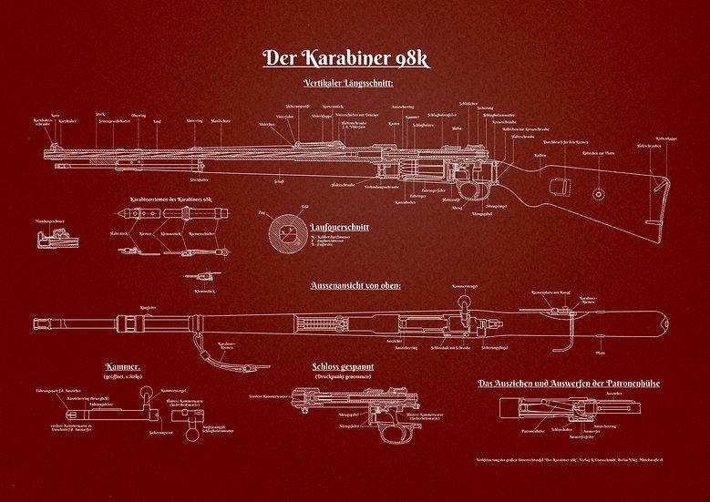 WW2 Karabiner 98k Patent Print Digital Download