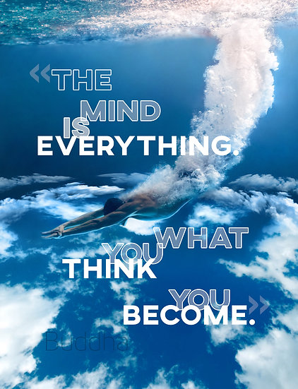 """Buddha Quote Poster """"What You Think You Become"""" Digital Download"""