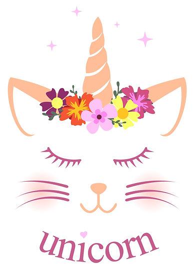 Cute Meowcorn Printable Digital Files: SVG, PNG, DXF, AI, EPS, JPEG