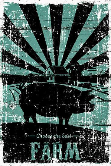 "Farmhouse Wall Decor ""Choose the Best Farm"", Farmhouse Kitchen Digital Download"