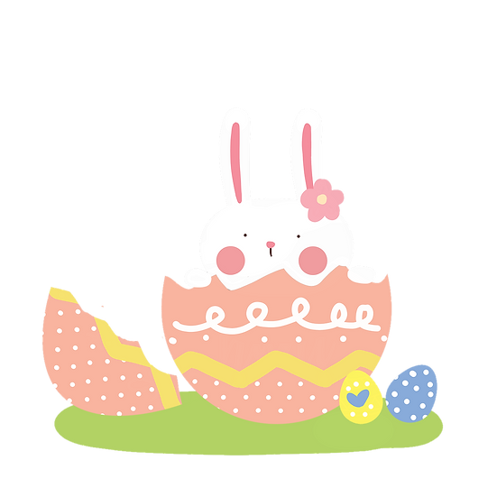 Adorable Bunny in the Egg - Easter PNG Transparent Image - Instant Download