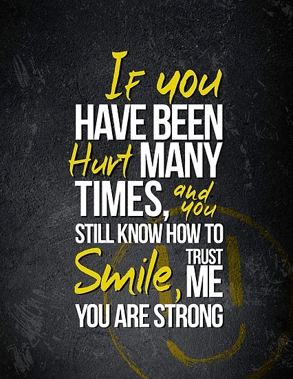 """Motivational Wall Art """"Trust Me, You are Strong"""" Digital Download"""