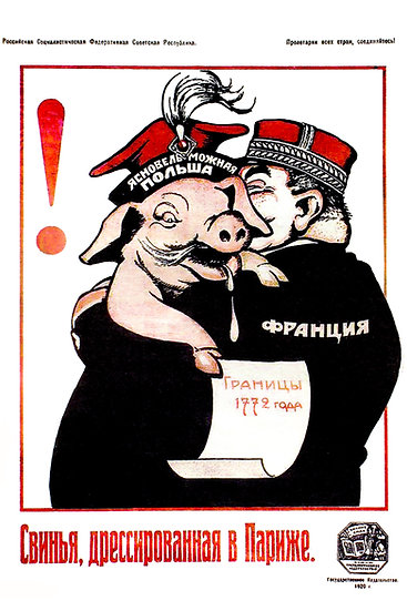 "Soviet Propaganda Poster ""A Pig Trained in Paris"" Digital Download"