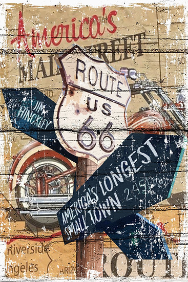 America's Main Street Route 66 Poster, Route 66 Wall Decor Digital Download