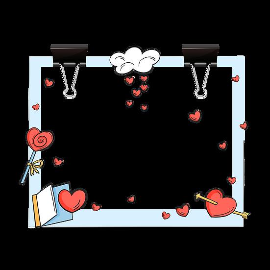 Cute Valentine's Day Frame - PNG Transparent Image - Instant Download