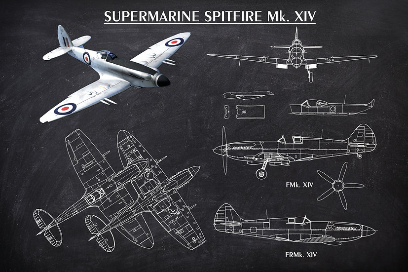 WW2 Supermarine Spitfire Patent Print Digital Download