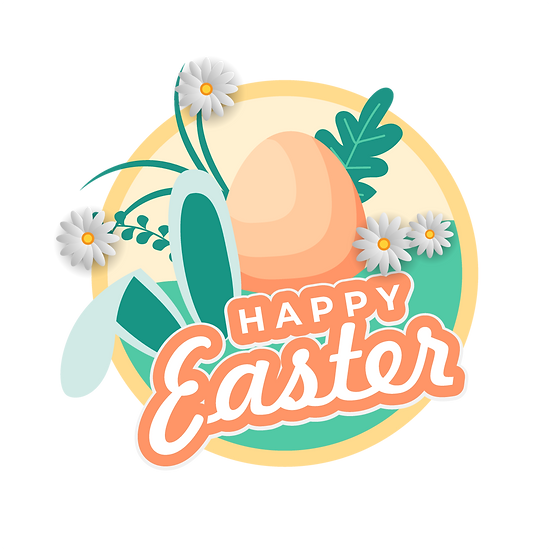 Happy Easter Wonderful Clipart - PNG Transparent Image - Instant Download