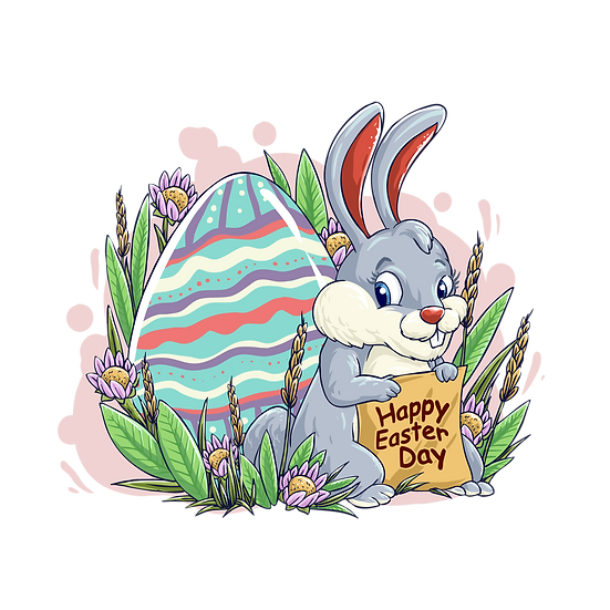 Happy Easter Day Marvelous Clipart - PNG Transparent Image - Instant Download