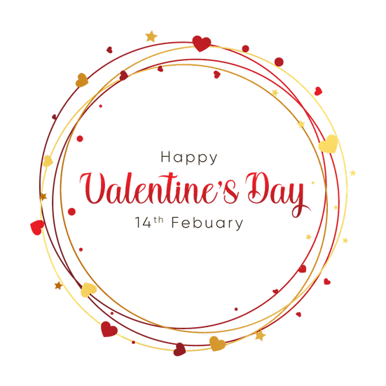 Happy Valentine's Day 14th February Greeting Card - PNG Image - Instant Download