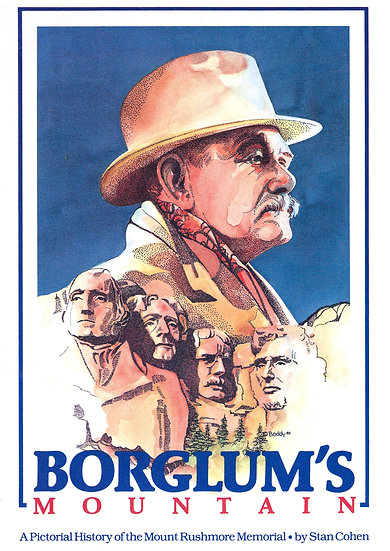 Borglum's Mountain Vintage Print, Mount Rushmore, Travel Poster Digital Download