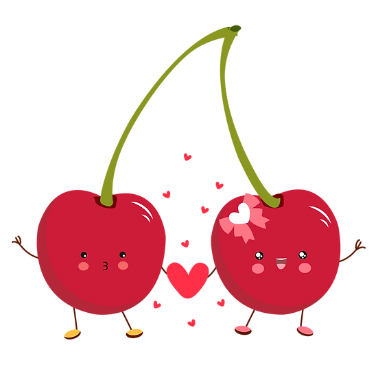 Cherry Love - Valentine's Day PNG Transparent Image - Instant Download