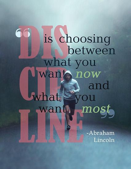 Abraham Lincoln Quote, Discipline Poster, Motivational Print Digital Download